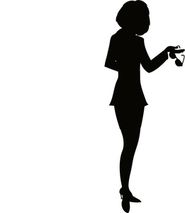 Person silhouette at getdrawings. Businesswoman clipart black woman afro clip library library
