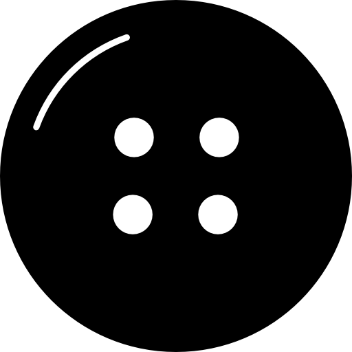 Black clothes button png. With four holes icons