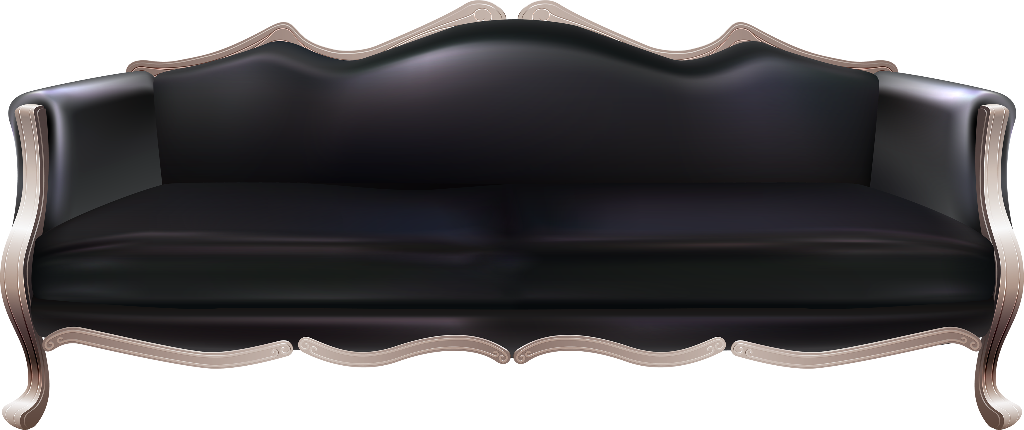 Black couch png. Sofa images free download