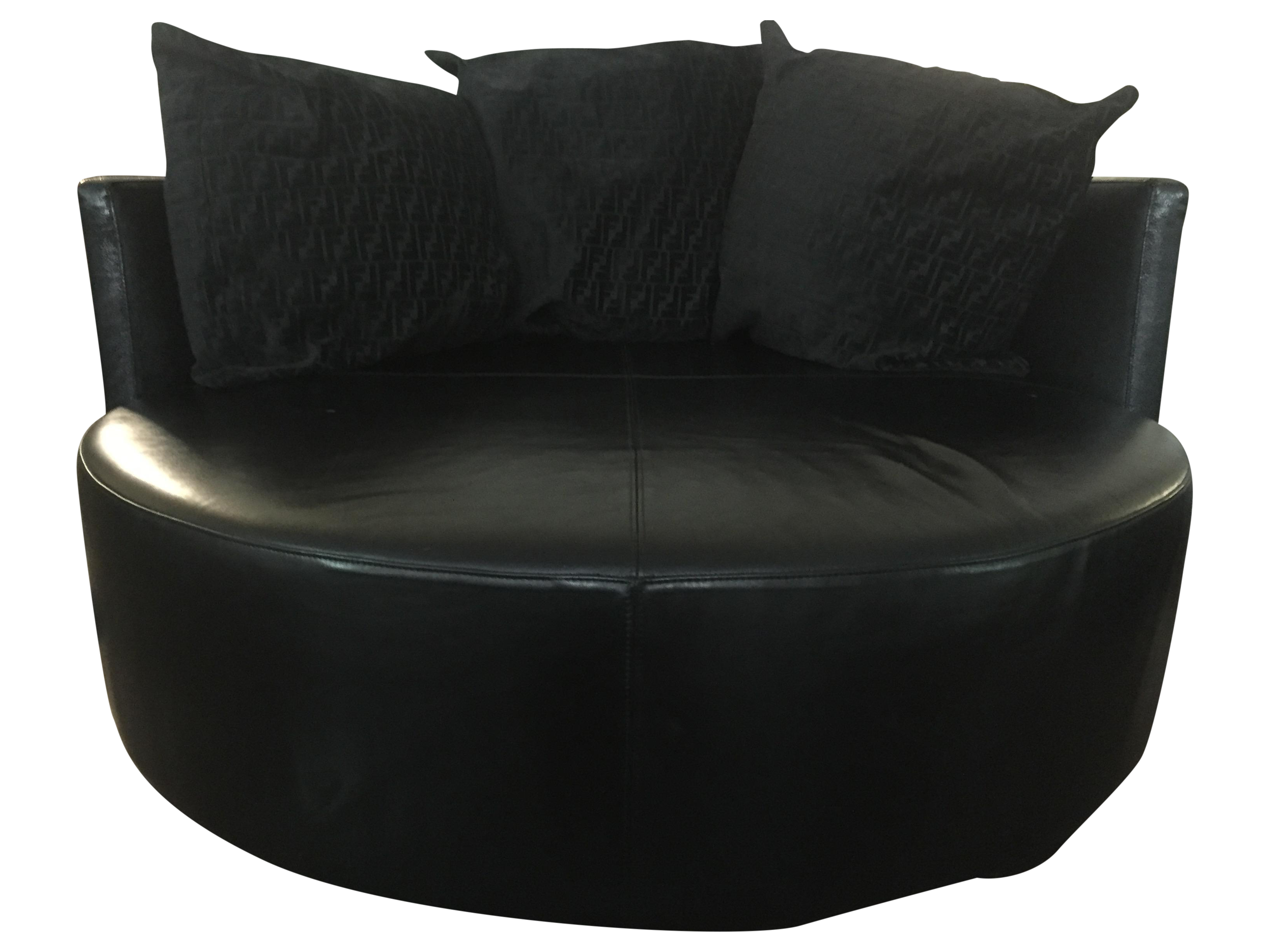 Black couch png. Fendi casa stingray leather