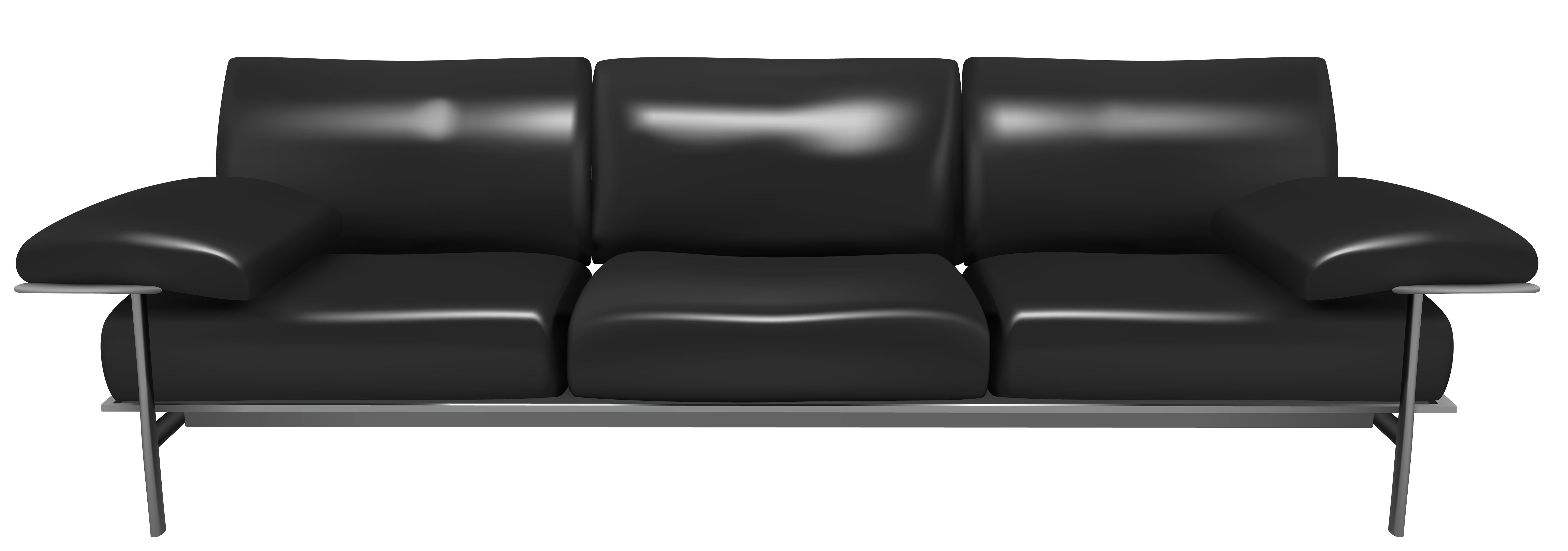 Cartoon couch png. Transparent black clipart gallery