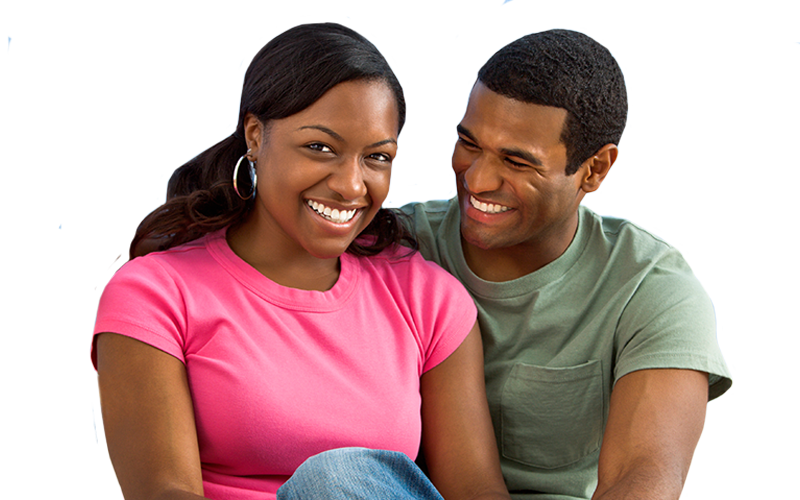 African american couple png. Services available at sweet