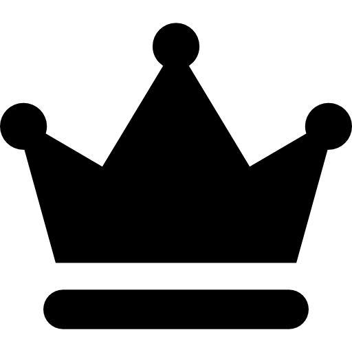 Black crown png. And white transparent symbol