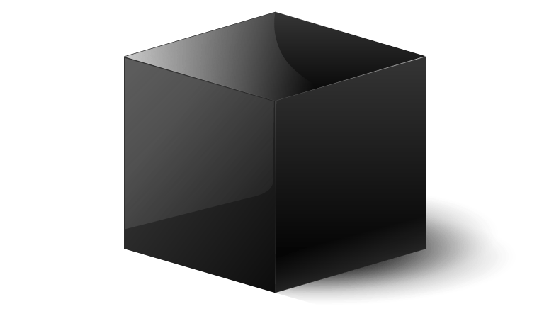 Black cube png. The six sides of