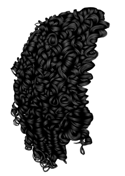 Black curly hair png. Download afro free transparent
