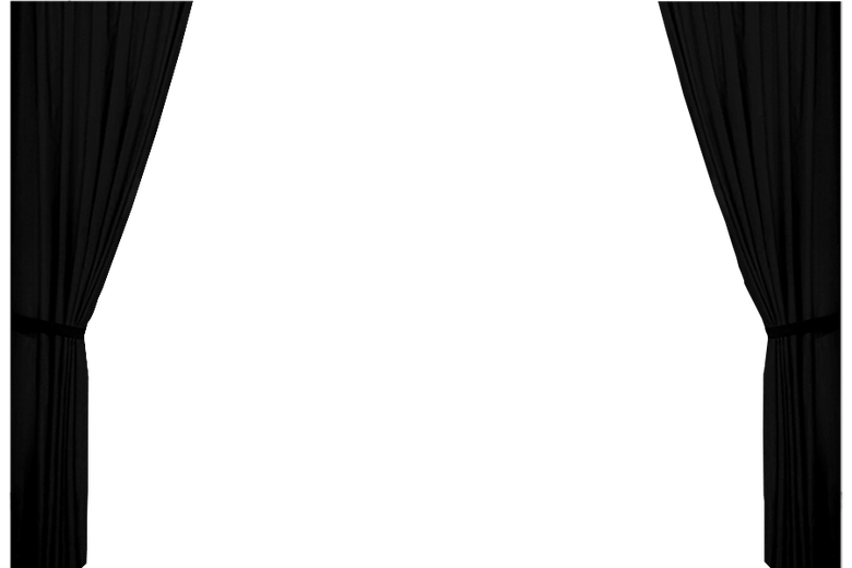 black curtains png