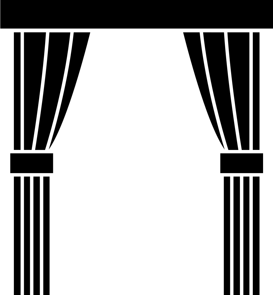 Black curtains png. Window svg icon free