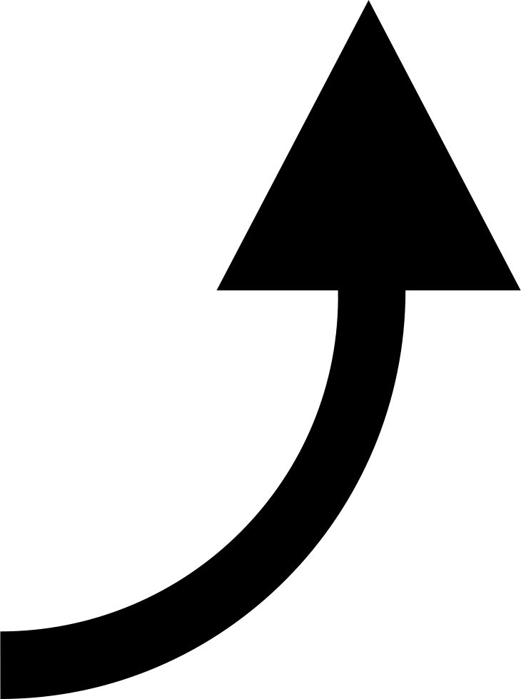 Black curved arrow png. Right svg icon free