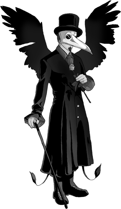 Plague doctor png. Bubonic doctors are historical
