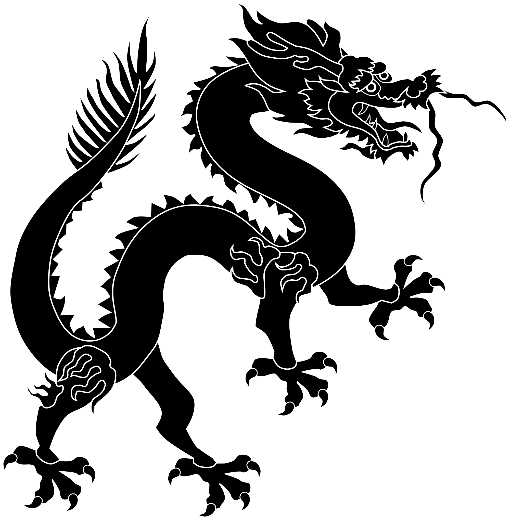 Black dragon png. File chinese svg wikimedia