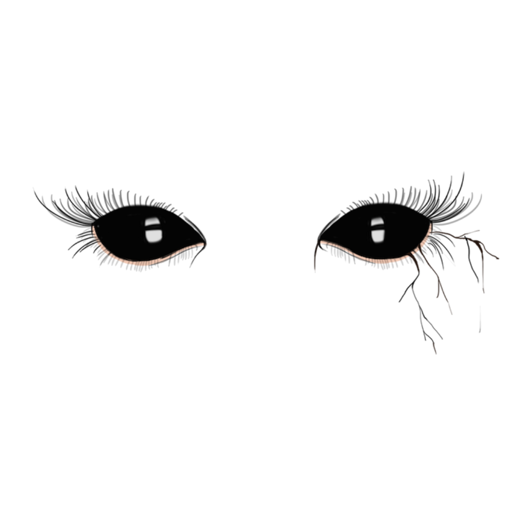Demon eyes png. Black dark halloween