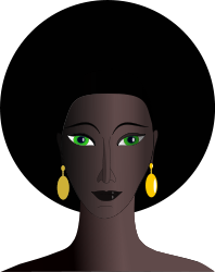 Black eyes png. File woman with green