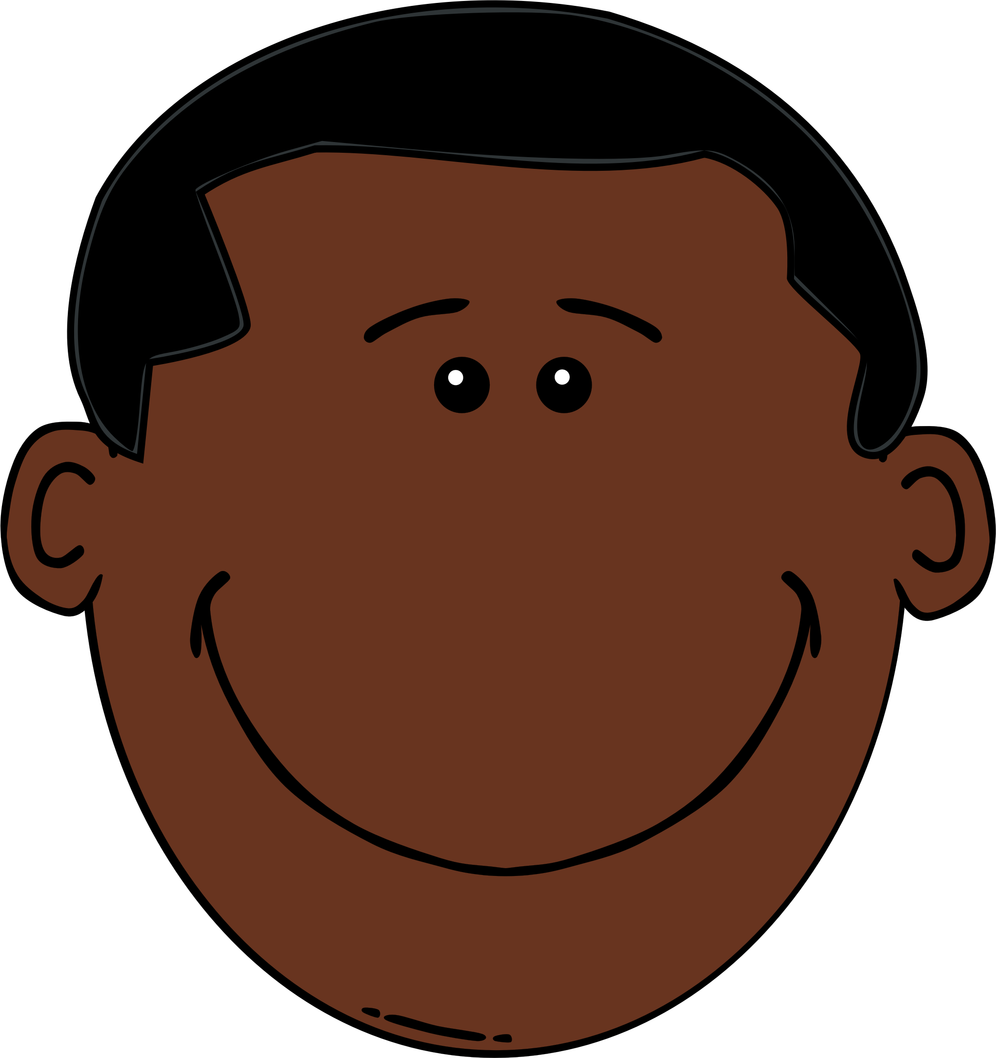 Black face png. Boy icons free and