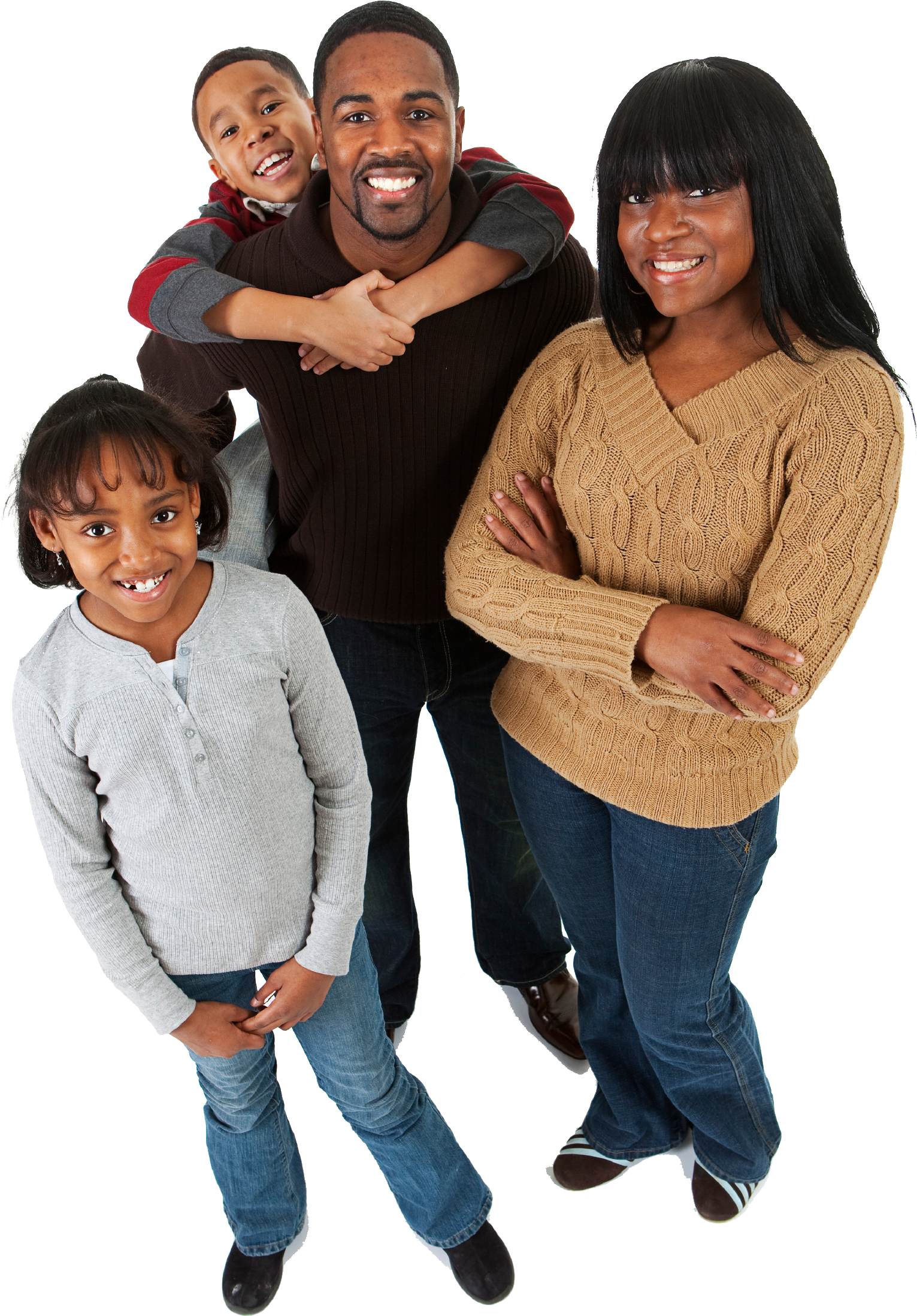 Black family png. Community access center inc