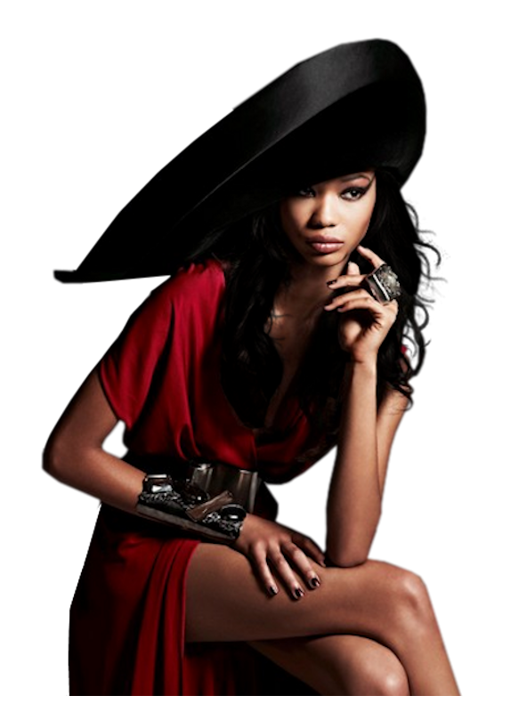 black fashion model png