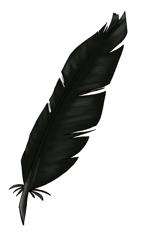 Black feather png. By uniquorned on deviantart