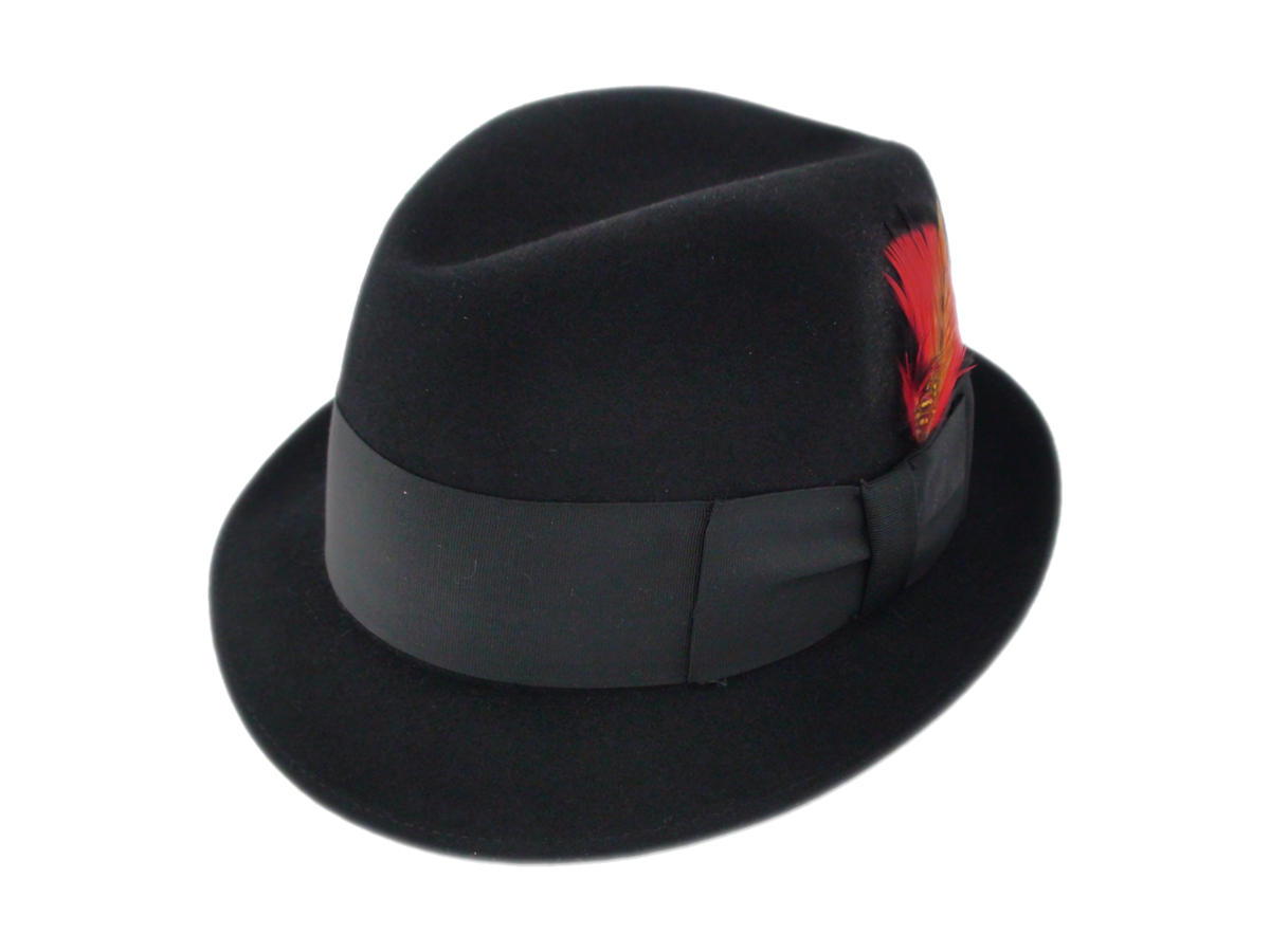 Black fedora png. Adam hats premier fur