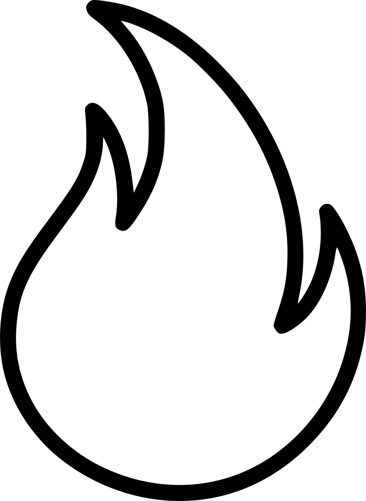 Black flame png. Svg icon free download