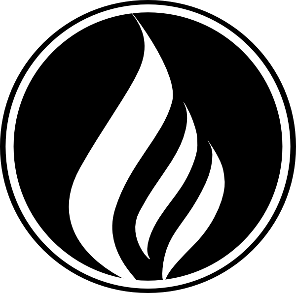 Black flame png. Icon clip art at