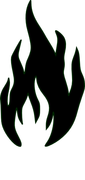 Black flame png. Clipart