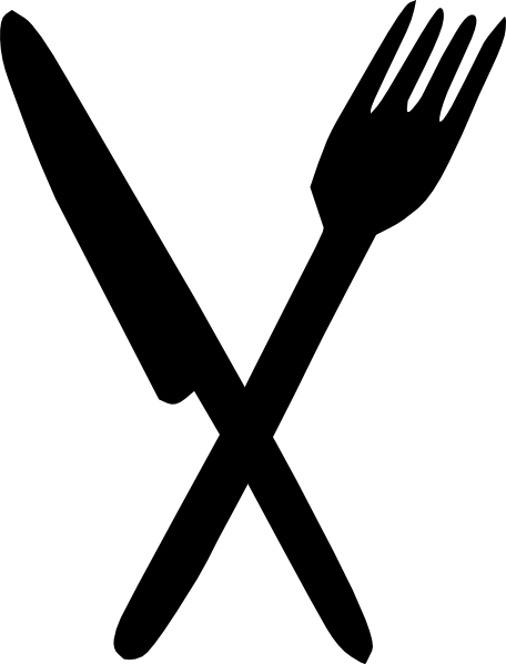 Fork knife clipart png. Crossed free icons and