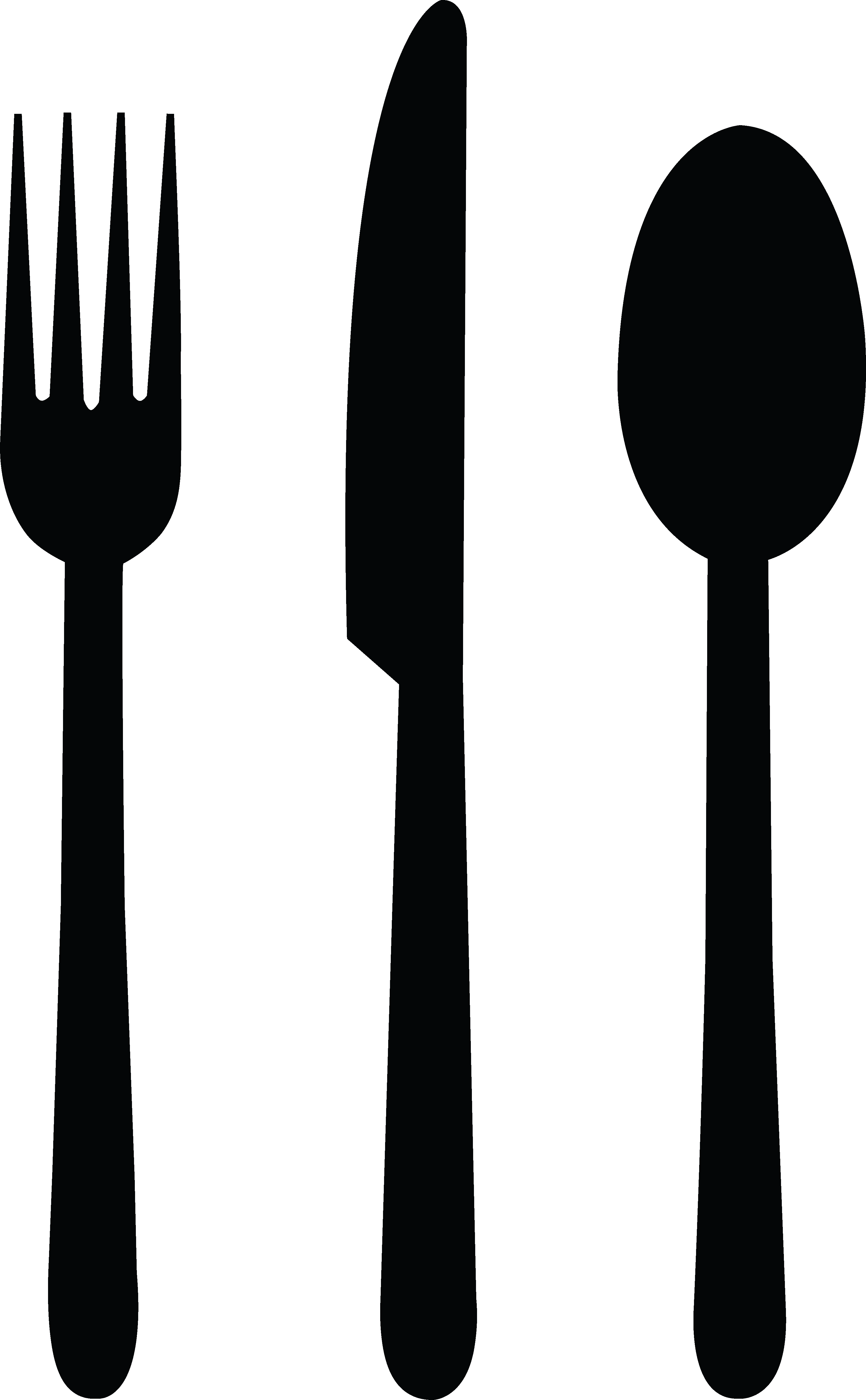 Fork knife clipart png. Spoon black free icons