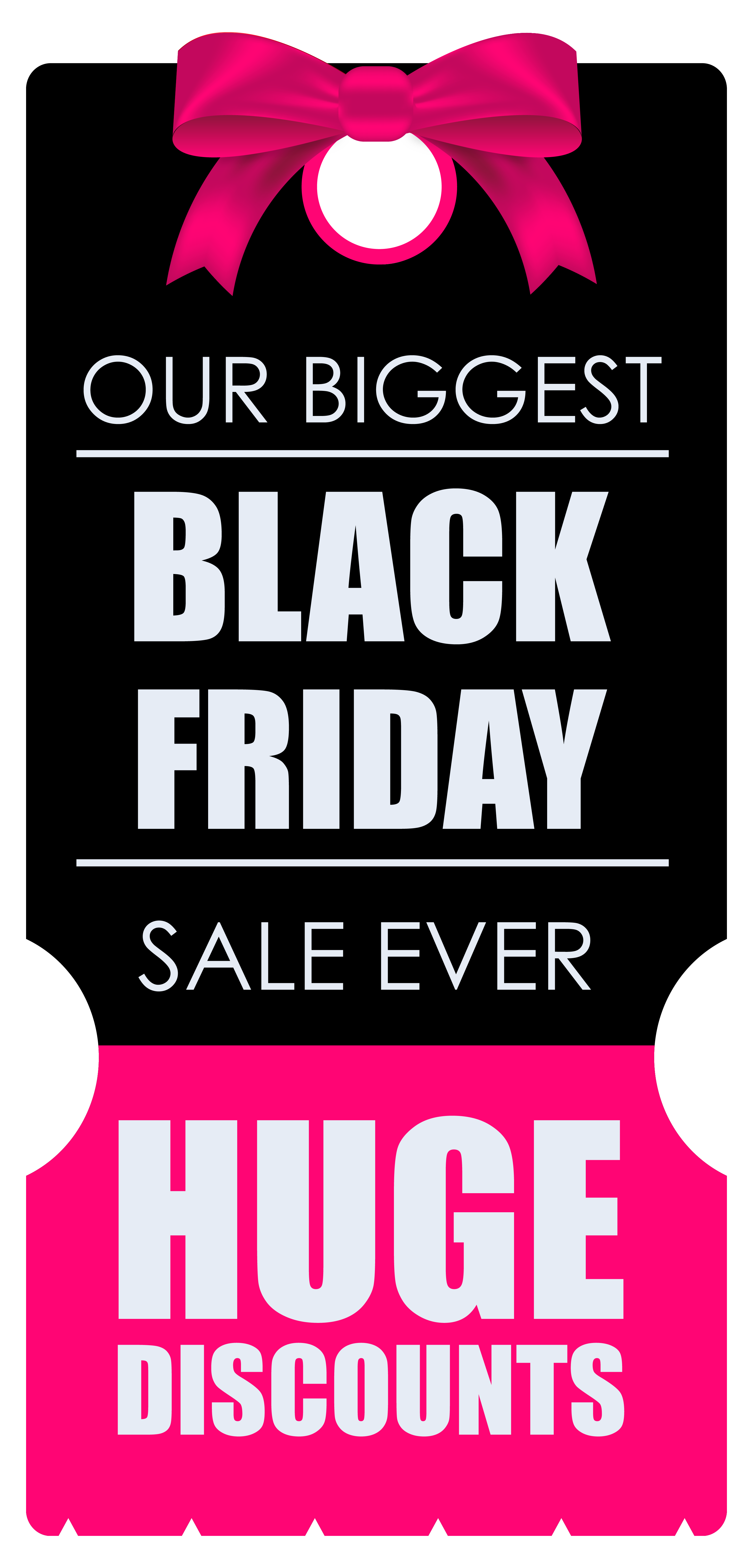 Huge discounts tag clipart. Black friday banner png clip free library