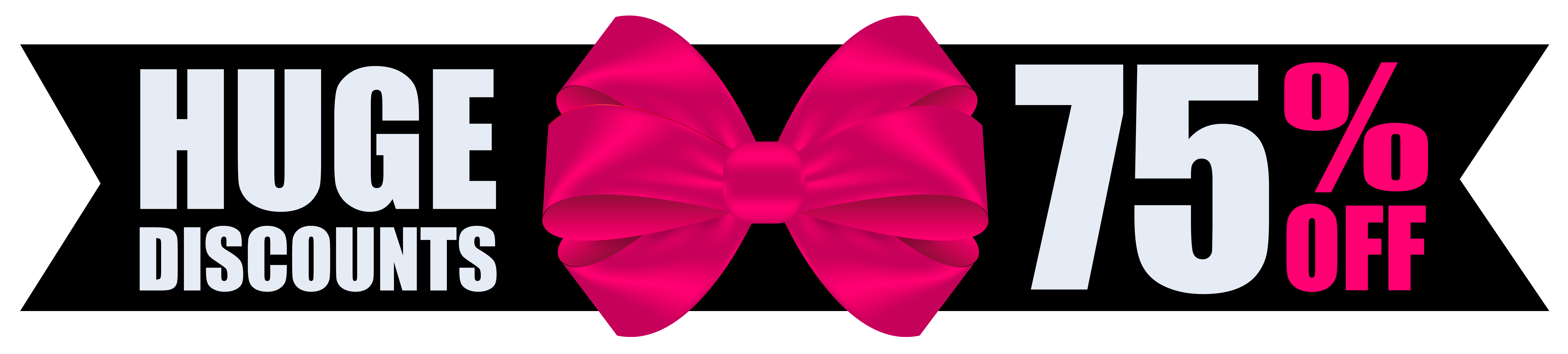 With bow clipart image. Black friday banner png download