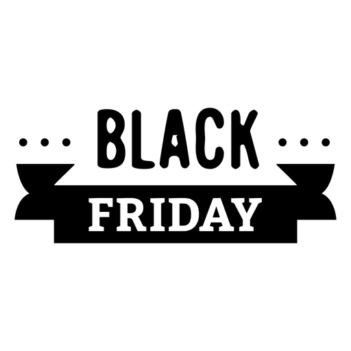 Black friday png. Ribbon transparent svg vector