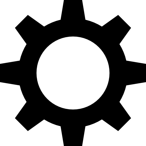 transparent gear black
