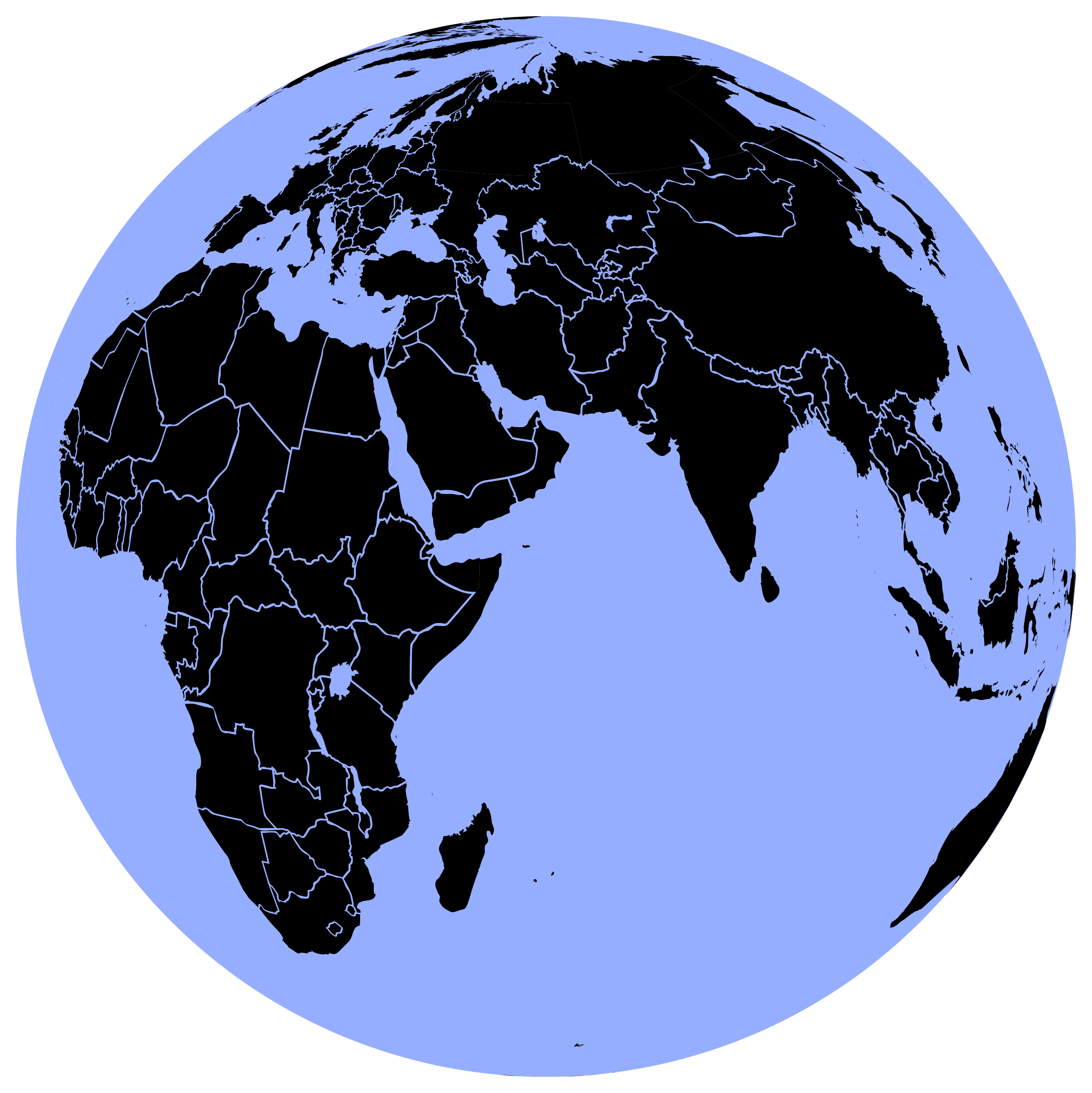 Black globe png. And blue icons free