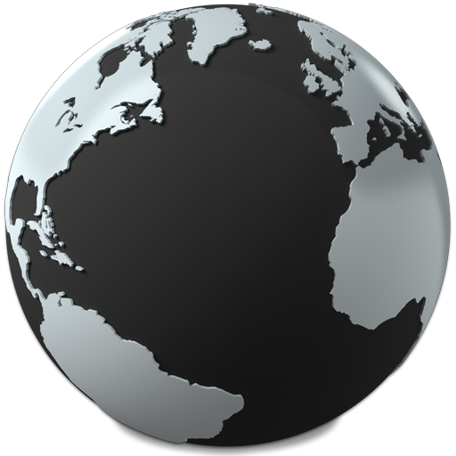 World png image. Black globe free icons