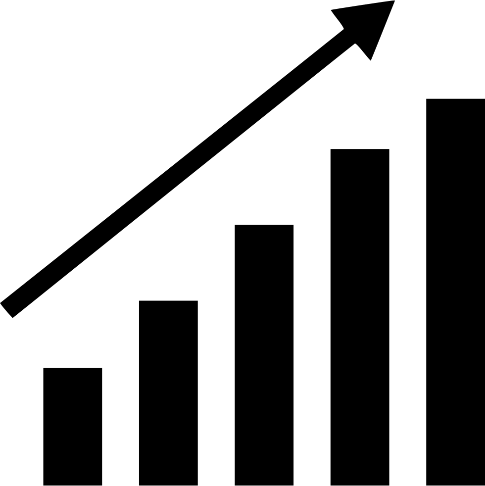 Black graph png. Bars up svg icon