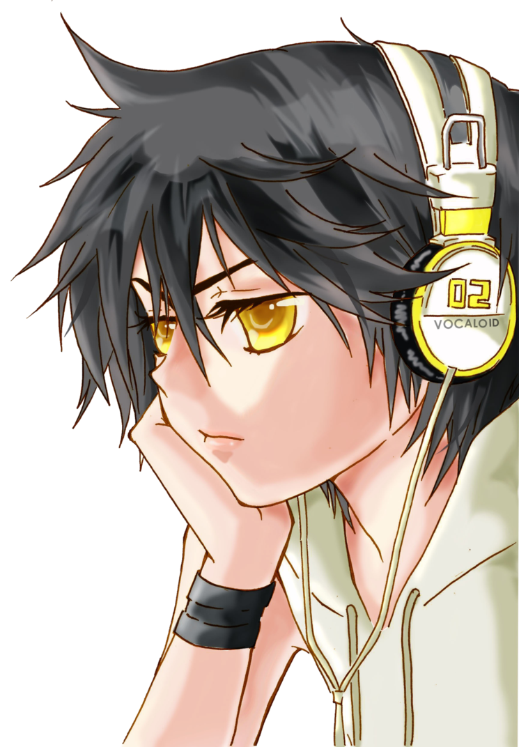 Black hair and clothes anime guy transparent png image. Boy transparentpng