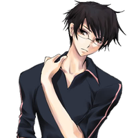 Black hair and clothes anime guy transparent png image. Girl brown eyes clipart