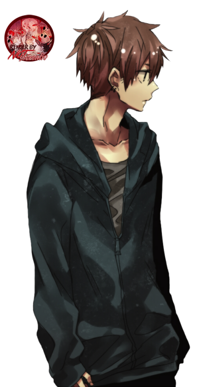 Black hair and clothes anime guy transparent png image. Download boy free clipart