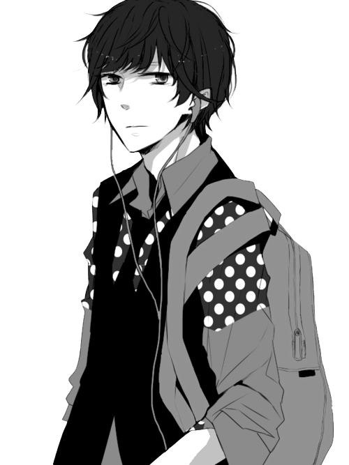 Black hair and clothes anime guy transparent png image. Hd images pluspng manga