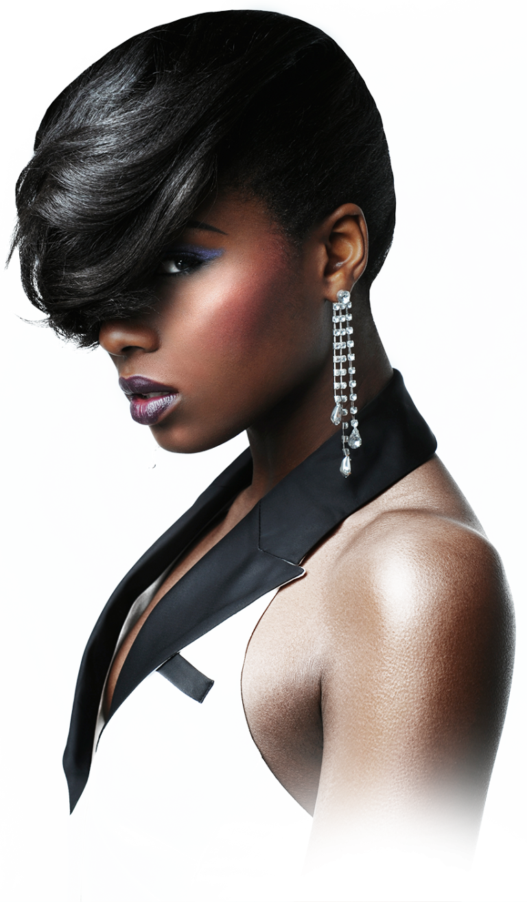 Black hair model png. Contact dudley beauty school