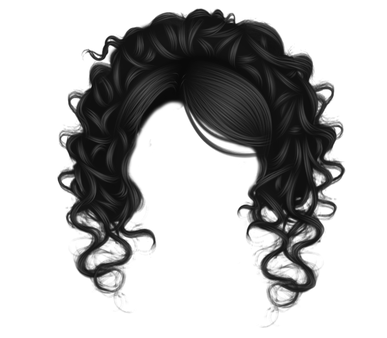 Black hair transparent png. Image with background arts