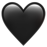 Iphone heart emoji png. Black on apple