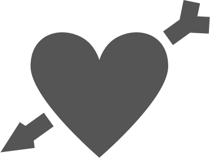 Black heart icon png.
