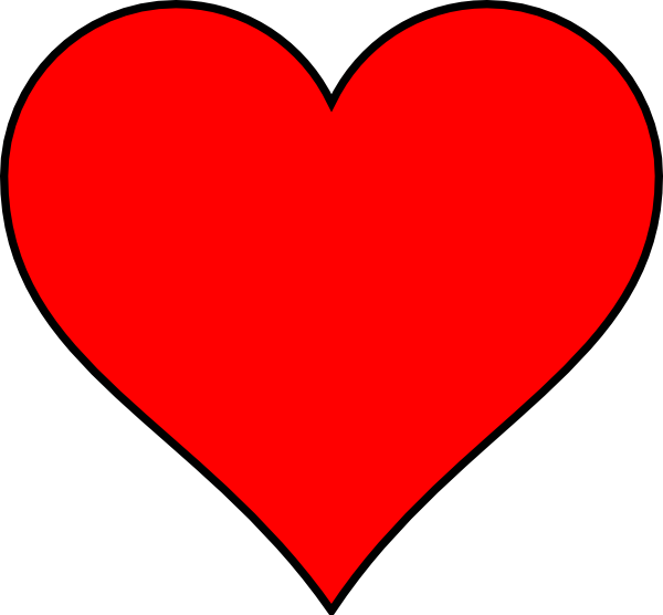 red heart outline png