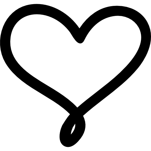 Black heart png. Outline love transparent stickpng