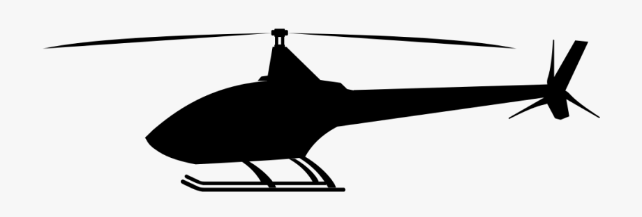 Black helicopter. Clipart by dg ra