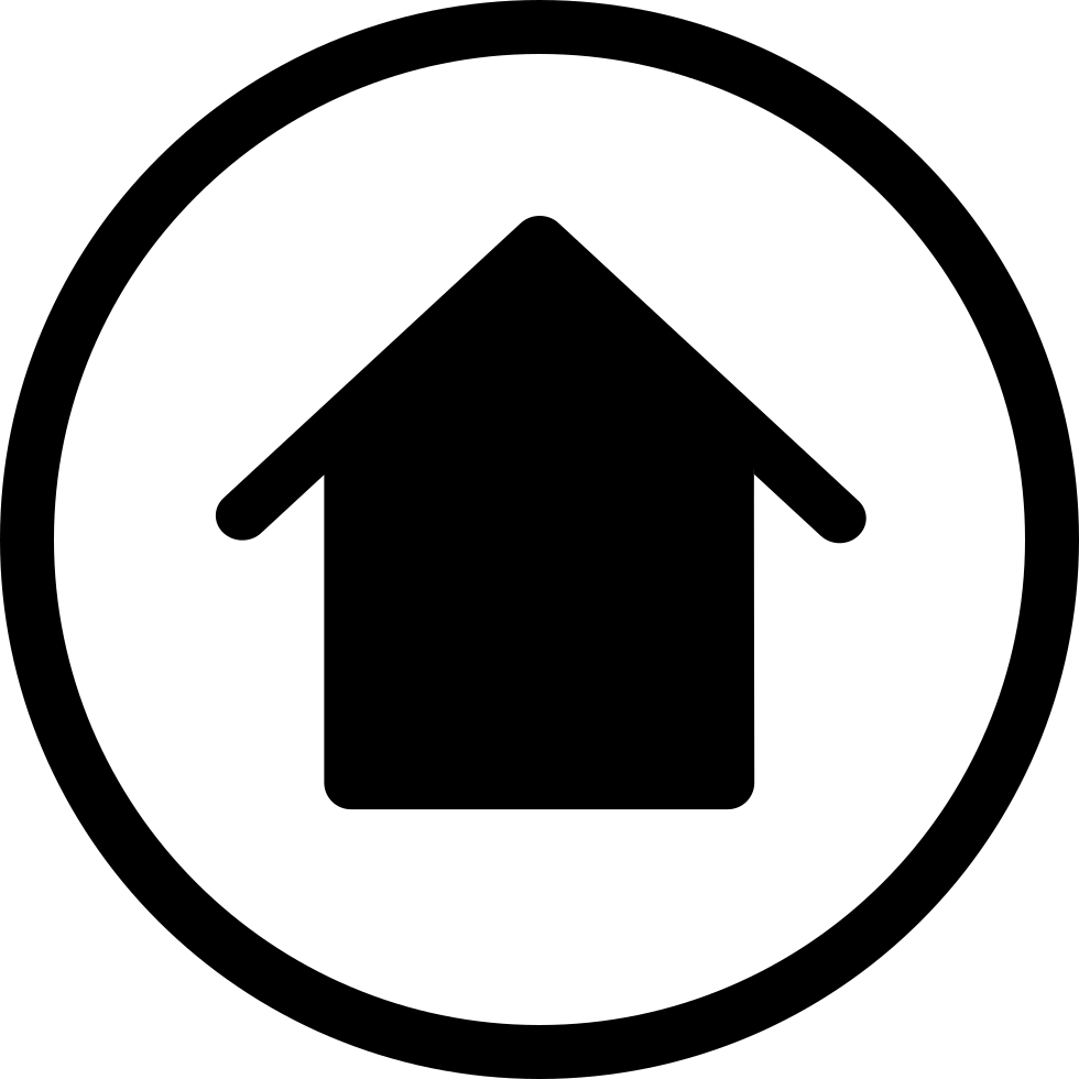 Black home icon png. Simple circled transparent stickpng