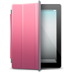 Black ipad png. Pink cover icon iconset