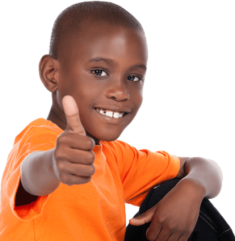 Thumbs up kid png. Black free images toppng