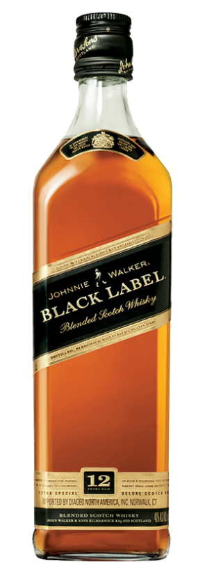 Black label png. Johnnie walker premium blended