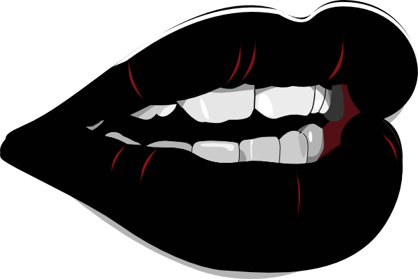 Black and white lips png. Clip art at clker