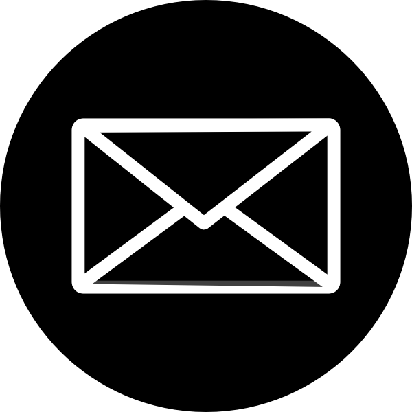 Black mailbox circle logo png. Email icons transparent images